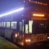 Delivery of Night lights Open Loop Sightseeing double decker  bus. Builder: East Coast Bus Repair of South Amboy NJ